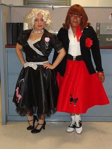 50s costume couple
