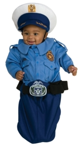 Police Officer Baby Bunting Costume