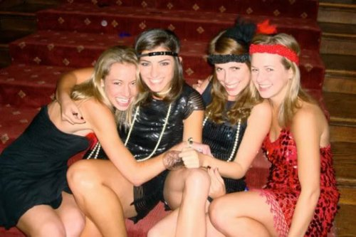 Group of Flapper Girl Costumes