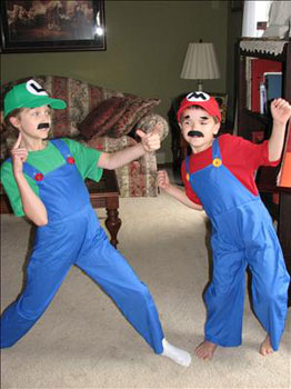 mario and luigi costumes kids