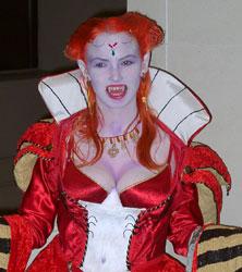 Scary Fire Vampiress Costume