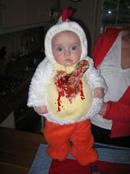 Scary Baby Chicken Costume